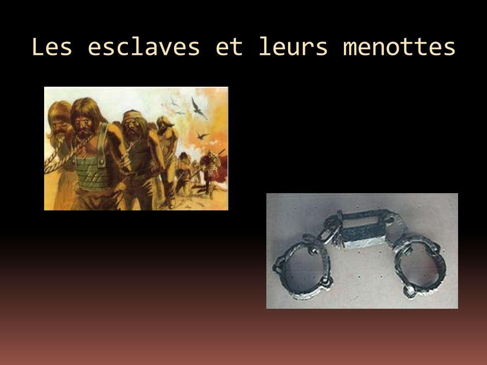 Les esclaves et leurs menottes