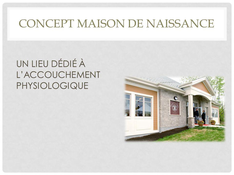 CONCEPT MAISON DE NAISSANCE UN LIEU DÉDIÉ À L'ACCOUCHEMENT PHYSIOLOGIQUE
