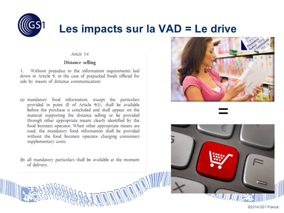 ©2014 GS1 France Les impacts sur la VAD = Le drive =