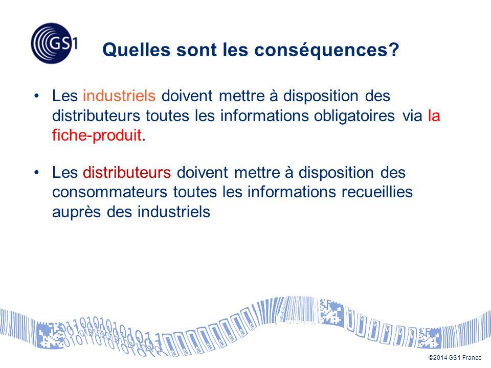 ©2014 GS1 France Quelles sont les conséquences.