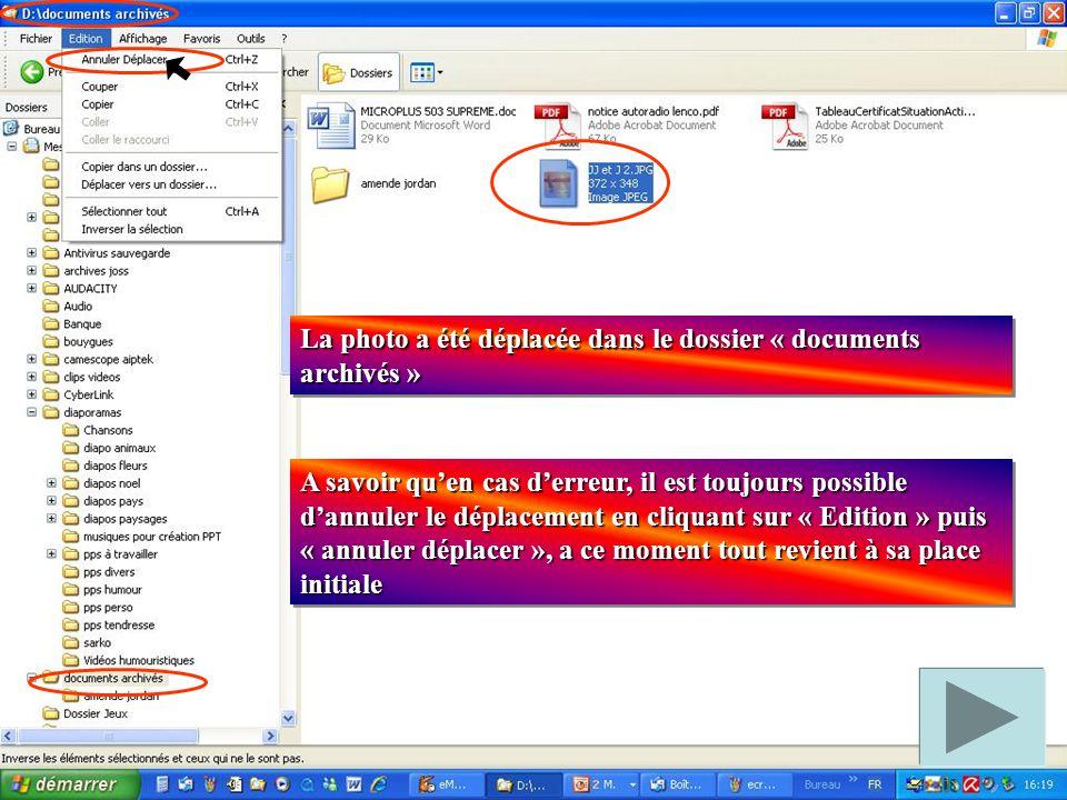 Cas de fichiers consécutifs : Sélectionner le premier fichier en cliquant dessus.