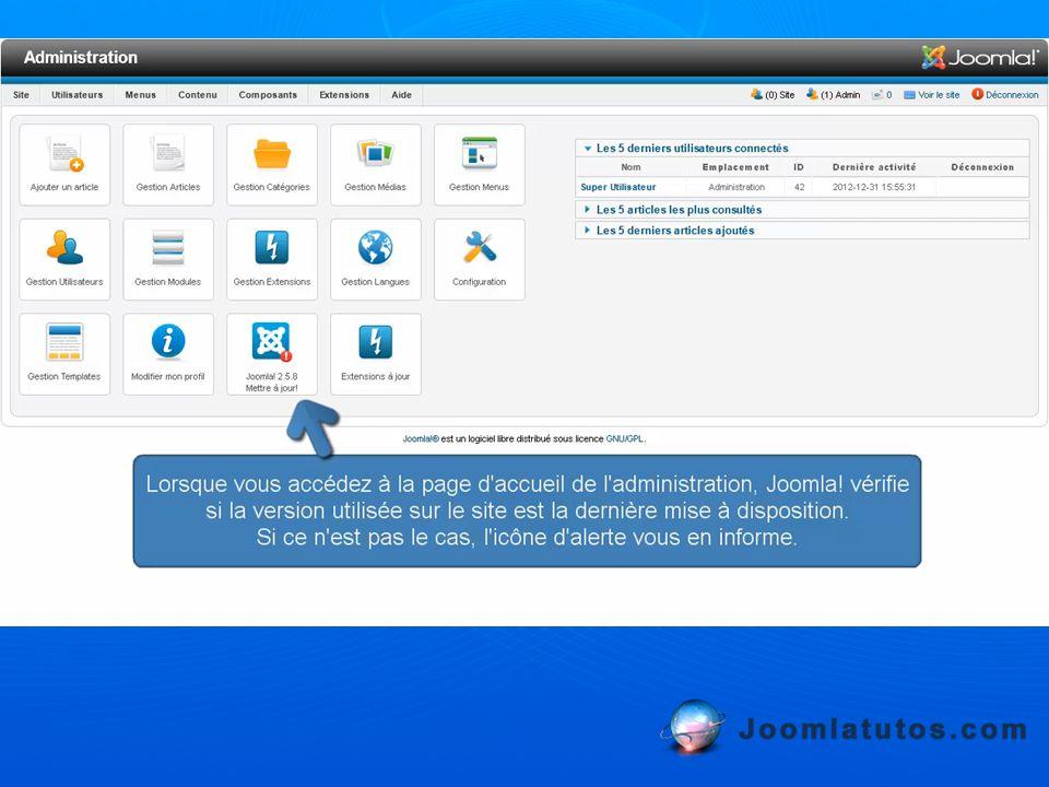 Les mises à jour des extensions se font de la même manière que celles des packs de langue FR