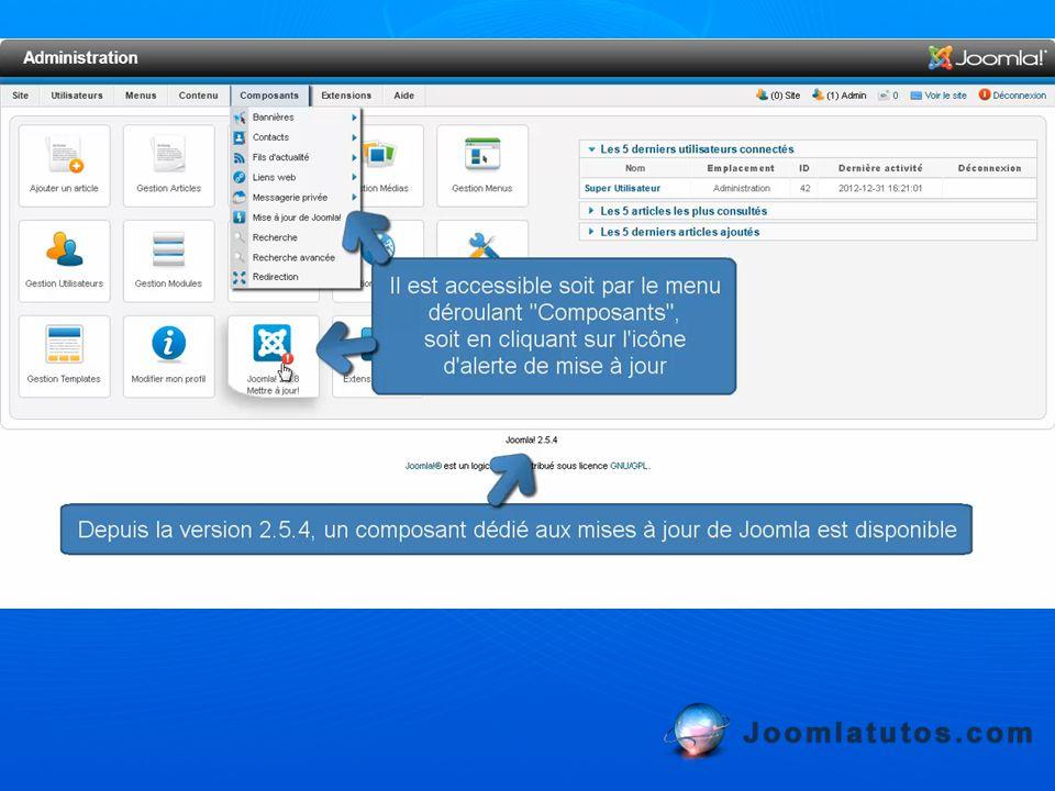 La seconde interface permet d installer les extensions que vous avez ajouté à votre profil.
