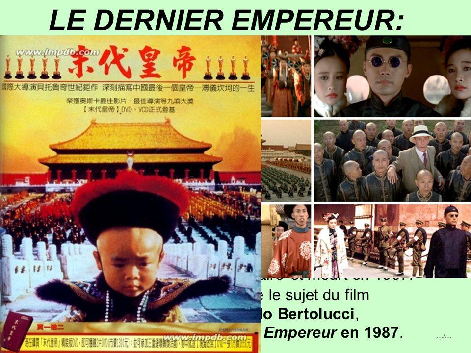3°) 1911: FIN DE L'EMPIRE DE CHINE Ecrasée depuis 1847 par les humiliations, à la mort de l'impératrice CiXi en 1908, la Chine impériale refuse tout c