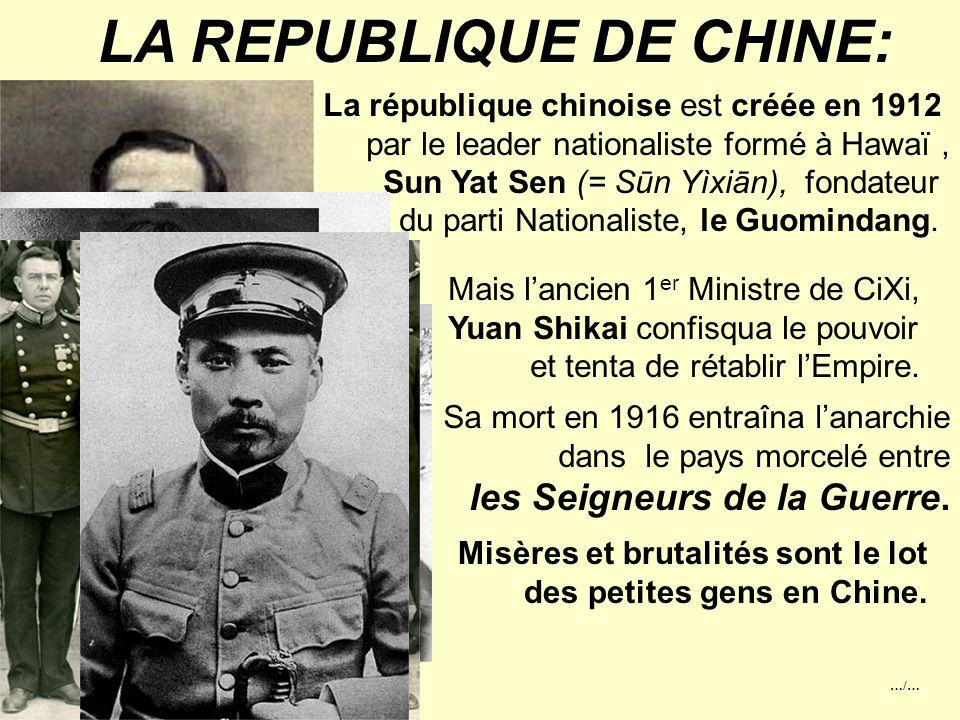 …/… LE DERNIER EMPEREUR: Les Japonais lui accorde l'asile et le mettent à la tête de l'Etat fantoche du Mandchoukouo qu'ils ont créé en Mandchourie en