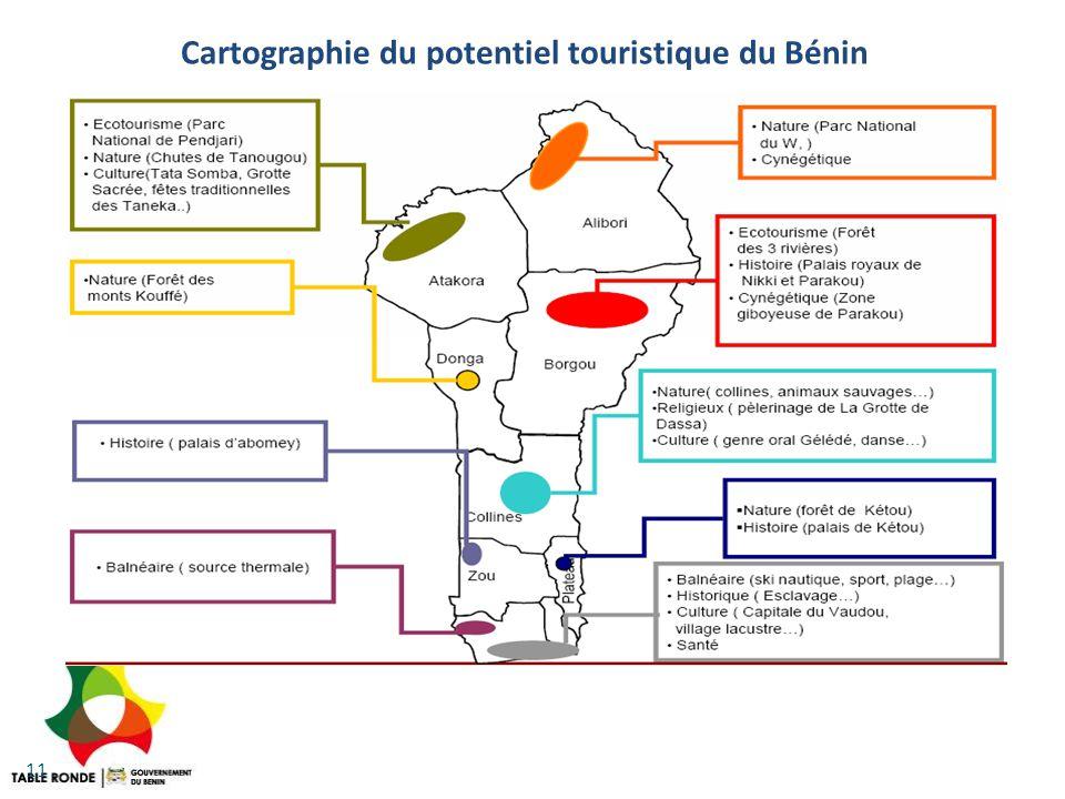 11 Cartographie du potentiel touristique du Bénin