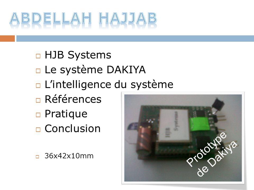  HJB Systems  Le système DAKIYA  L'intelligence du système  Références  Pratique  Conclusion  36x42x10mm Prototype de Dakiya