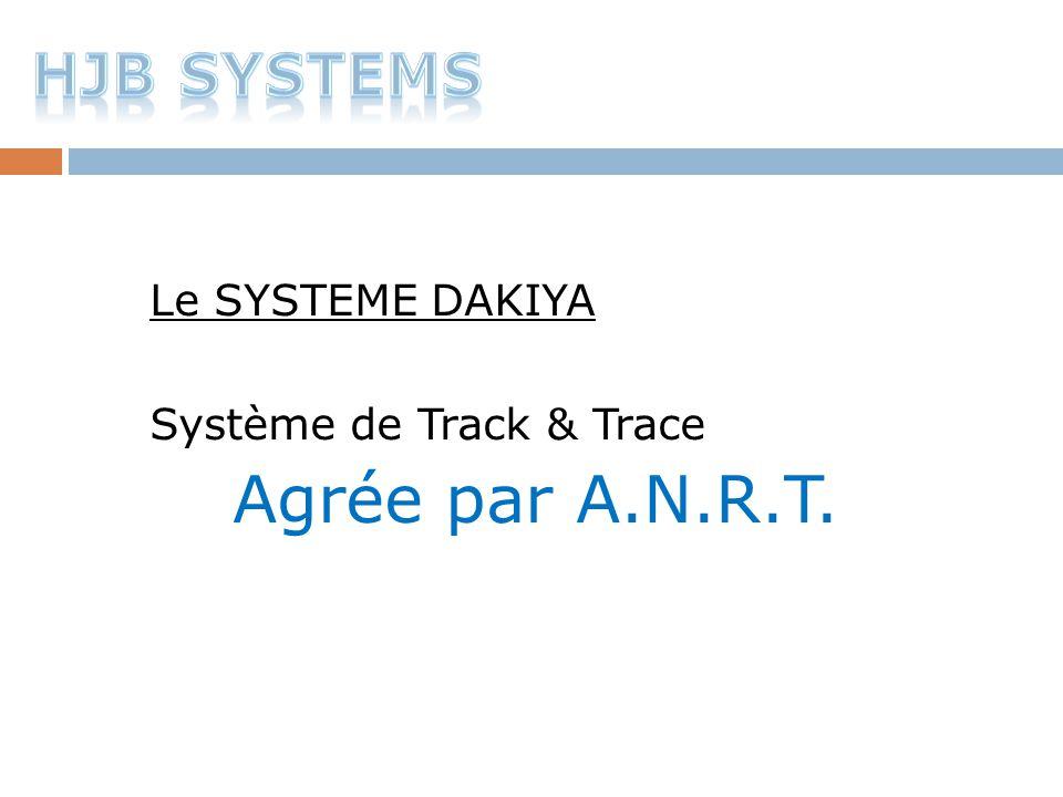 Le SYSTEME DAKIYA Système de Track & Trace Agrée par A.N.R.T.