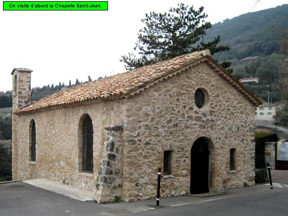 On visite d'abord la Chapelle Saint-Jean,