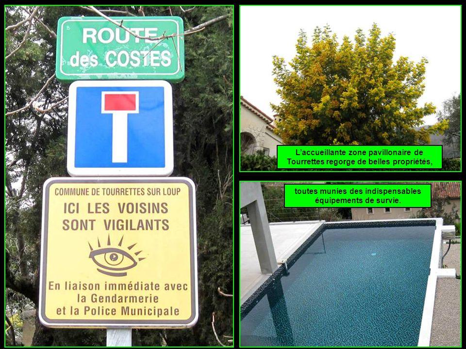 L'accueillante zone pavillonaire de Tourrettes regorge de belles propriétés, toutes munies des indispensables équipements de survie.