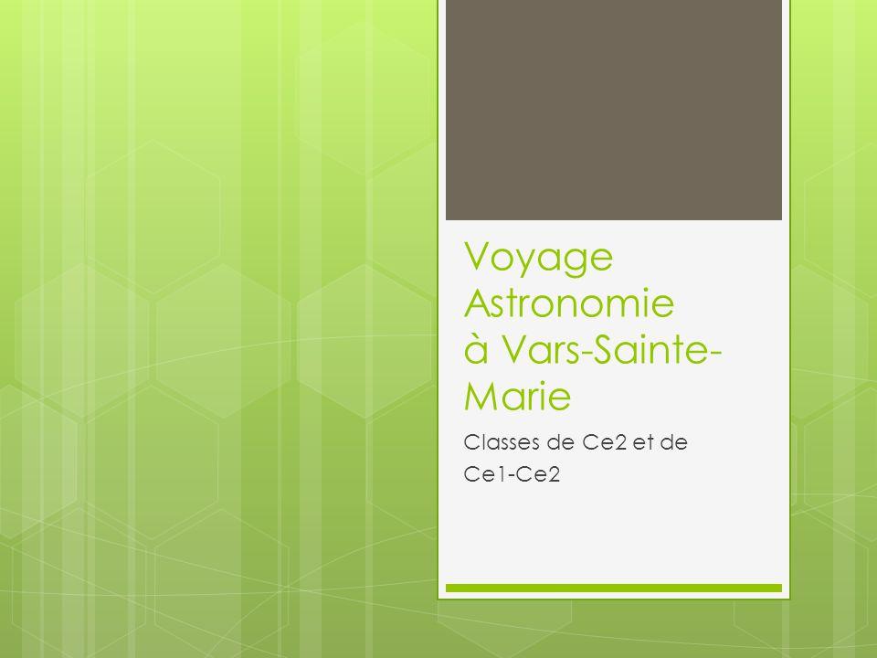 Voyage Astronomie à Vars-Sainte- Marie Classes de Ce2 et de Ce1-Ce2