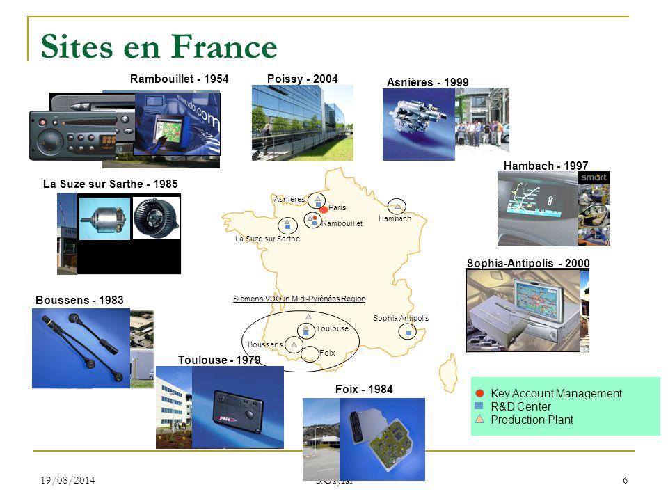 19/08/2014 S.Gayral 137  De nouvelles compétences Relationnelles, linguistiques  De nouveaux métiers en Europe Coordinateurs, « bridge manager » Conclusions