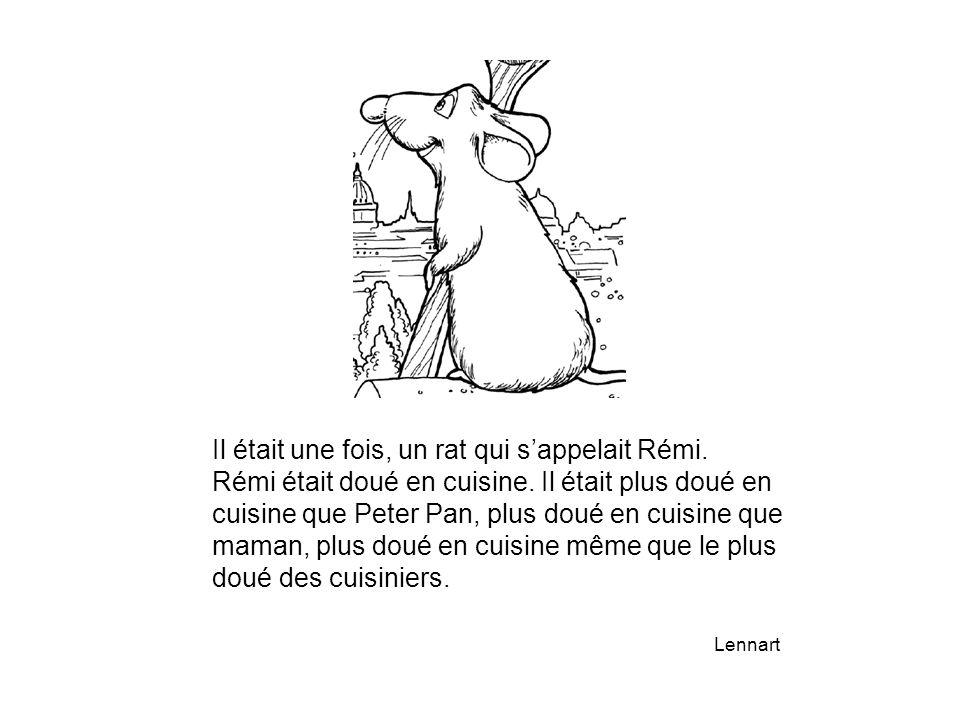 Il était une fois, un rat qui s'appelait Rémi. Rémi était doué en cuisine. Il était plus doué en cuisine que Peter Pan, plus doué en cuisine que maman