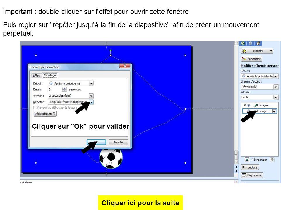 En partant du ballon, tracer un trait jusqu'au milieu droite en glissant la souris Clic gauche pour marquer l'endroit, partir vers le milieu haut puis