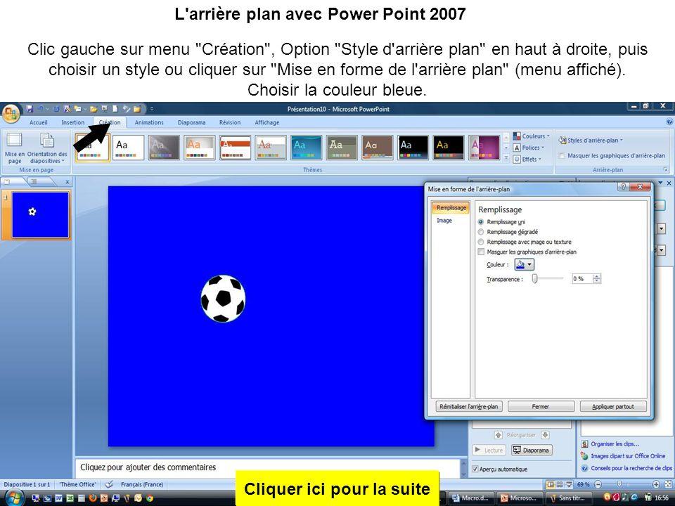Exactement comme sous Power Point 2003,tirer sur les poignées pour les amener au niveau du ballon par un clic gauche sur les traits et en glissant la