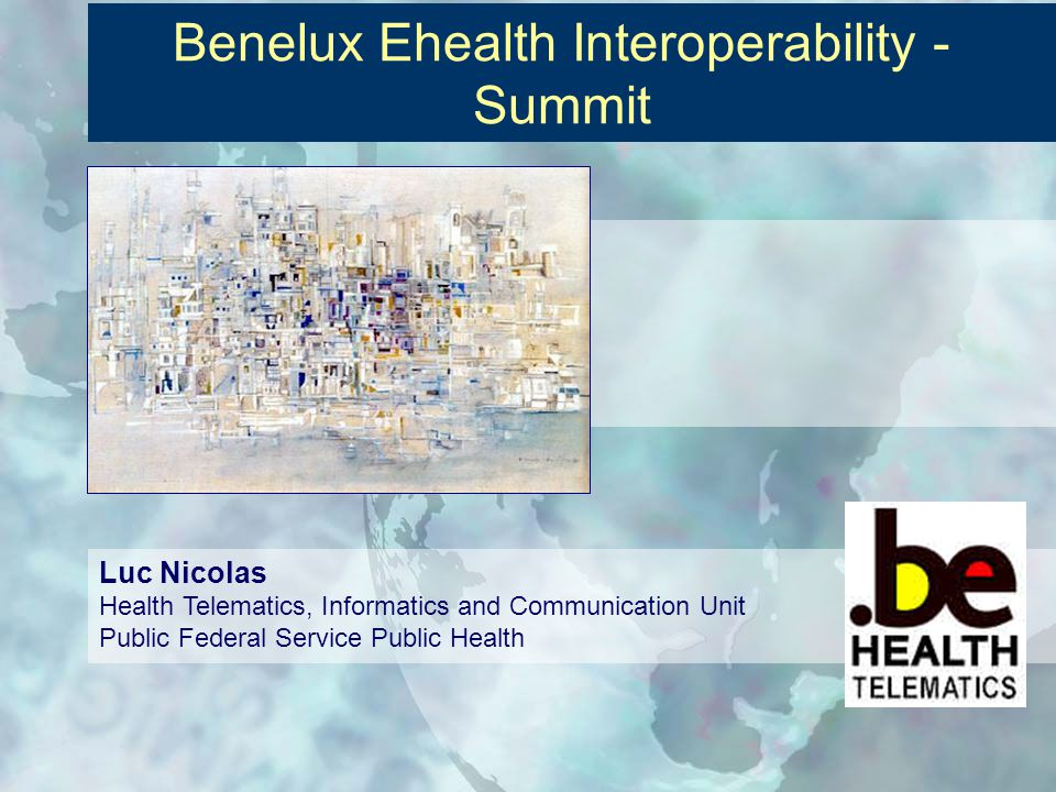 Ehealth Roadmap Hub-metahub: system to system communication Current situation in ambulatory care Approach for institutions Some roads for tomorrow eHealth certification in Belgium