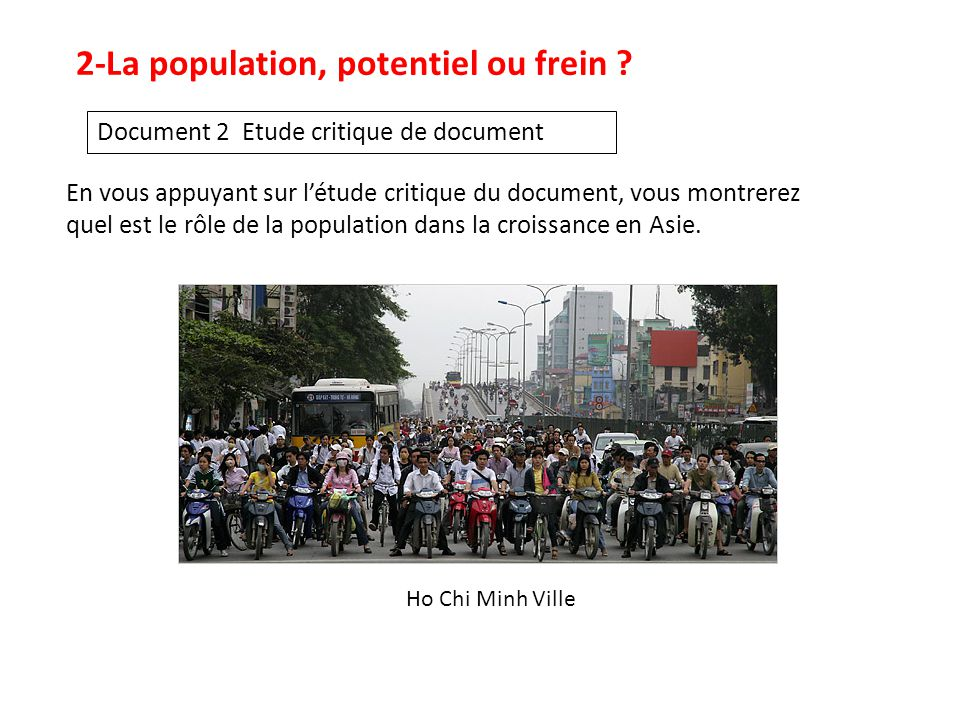 2-La population, potentiel ou frein .