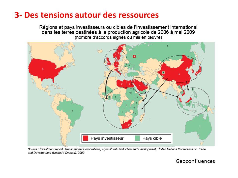 Geoconfluences 3- Des tensions autour des ressources