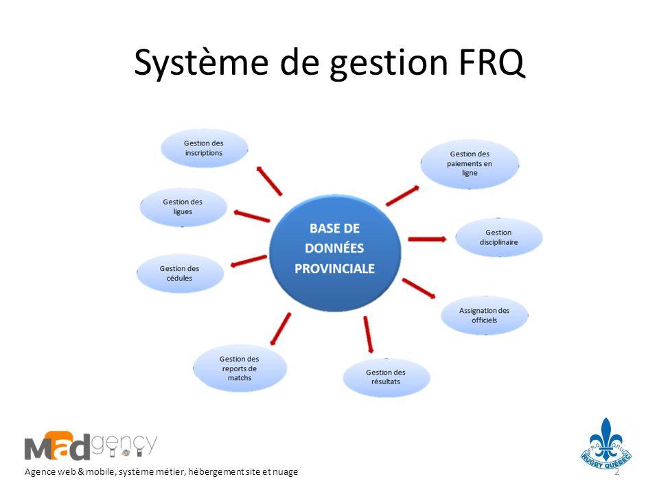 Système de gestion FRQ Agence web & mobile, système métier, hébergement site et nuage 2