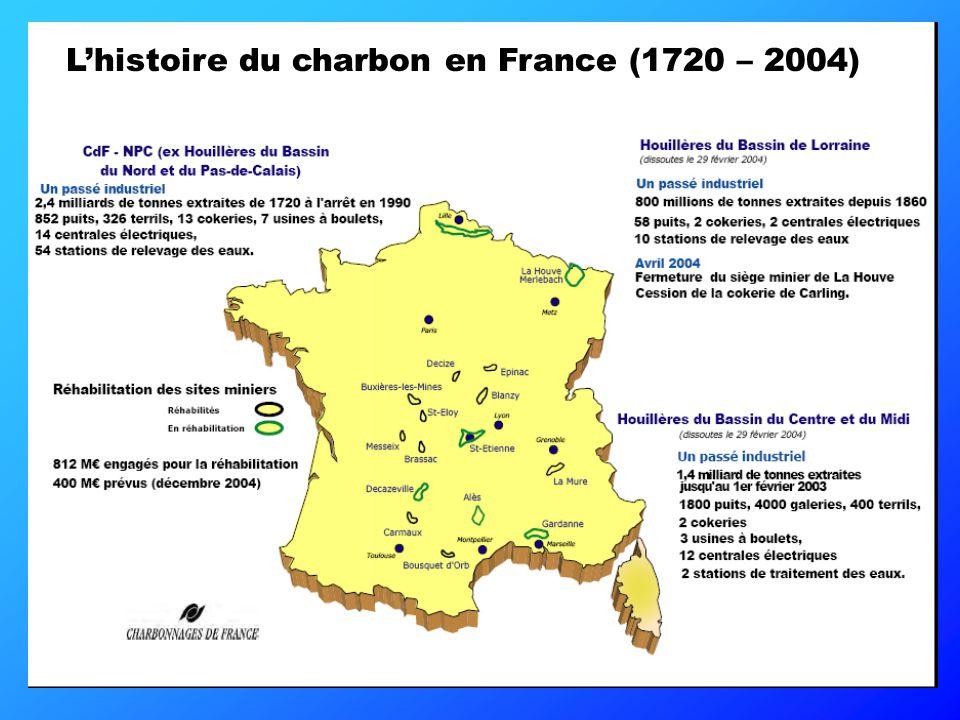 Le charbon en France CHARBONNAGES DE FRANCE