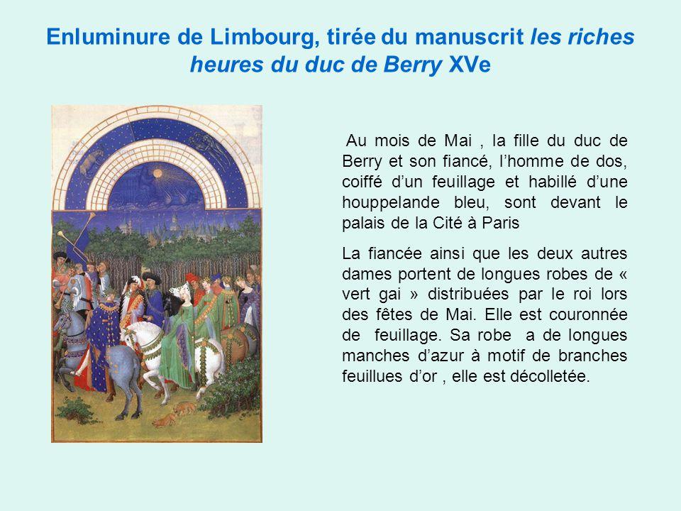 Enluminure de Limbourg, tirée du manuscrit les riches heures du duc de Berry XVe Juin Le palais de la Cité et la Sainte chapelle vus de l'Hôtel de Nesle.