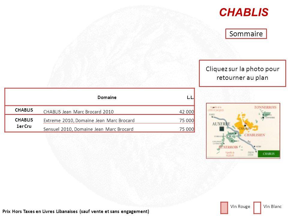 Prix Hors Taxes en Livres Libanaises (sauf vente et sans engagement) Cliquez sur la photo pour retourner au plan BOURGOGNE Sommaire DomaineL.L. ALIGOT