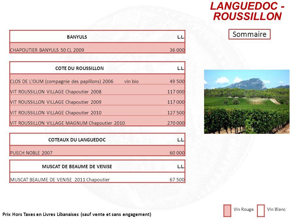 Prix Hors Taxes en Livres Libanaises (sauf vente et sans engagement) Cliquez sur la photo pour retourner au plan Sommaire DomaineL.L. MUSIGNY Grand Cr
