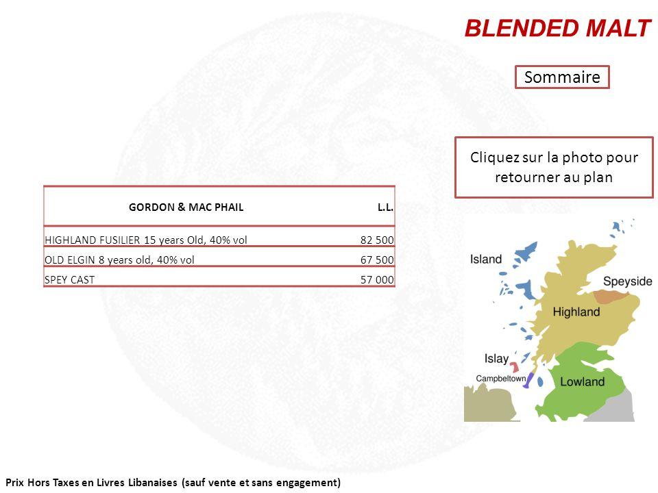 Cliquez sur la région que vous souhaitez consulter Sommaire CAMPBELTOWN SINGLE MALT HIGHLAND SINGLE MALT ISLAND SINGLE MALT ISLAY SINGLE MALT LOWLAND