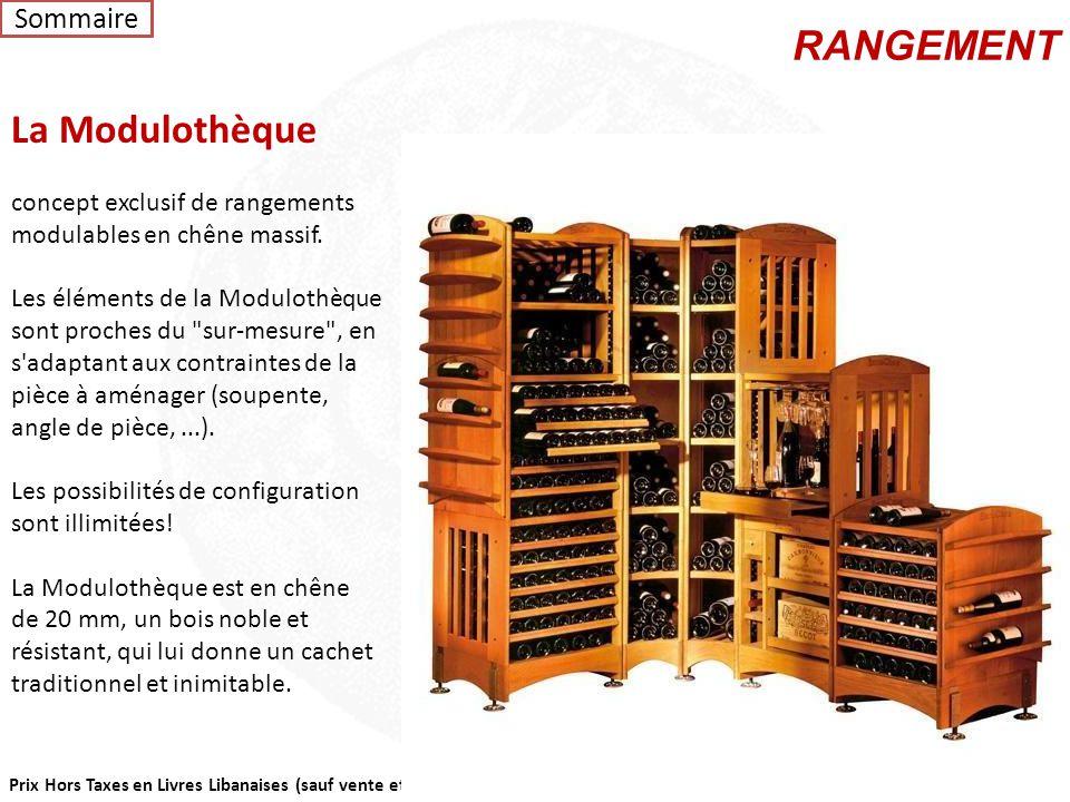 Prix Hors Taxes en Livres Libanaises (sauf vente et sans engagement) Vin au verre est un bar à vin à plusieurs températures qui permet de servir le vi