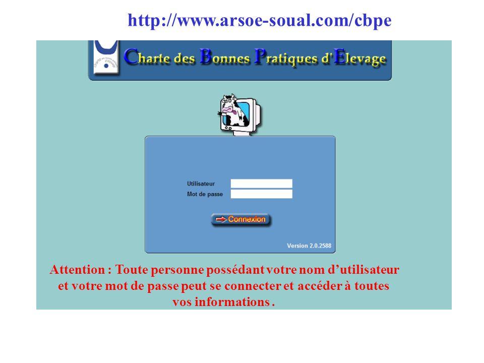 Attention : Toute personne possédant votre nom d'utilisateur et votre mot de passe peut se connecter et accéder à toutes vos informations. http://www.