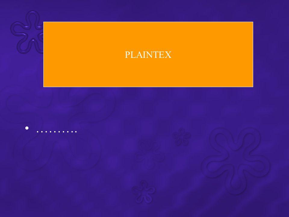 ………. PLAINTEX