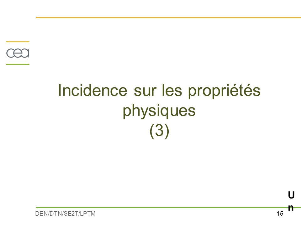 15DEN/DTN/SE2T/LPTM Incidence sur les propriétés physiques (3) Un exemple : la viscositéUn exemple : la viscosité