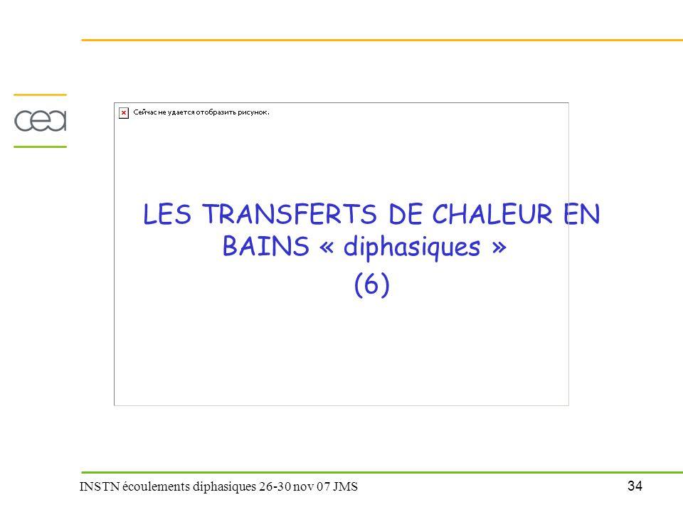 34 INSTN écoulements diphasiques 26-30 nov 07 JMS LES TRANSFERTS DE CHALEUR EN BAINS « diphasiques » (6)