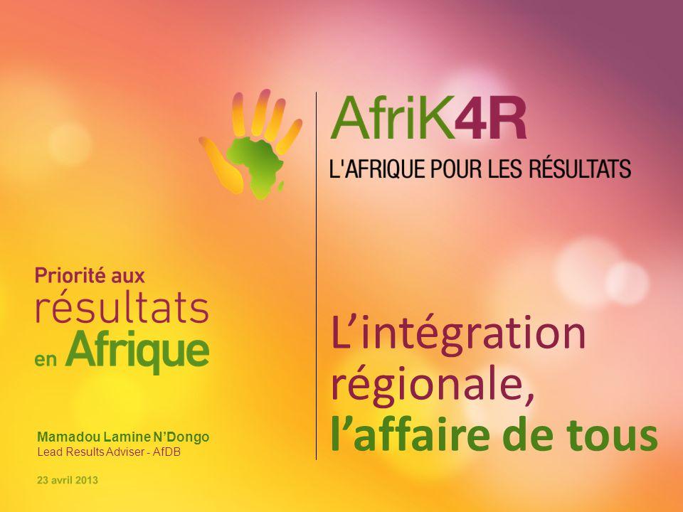Sommaire ●Présentation de la Communauté africaine de pratiques sur la gestion axée sur les résultats de développement (AfCoP) ●L'AfCoP et la vision de l'Afrique pour le développement ●AfriK4R, cadre d'action pour l'intégration pour les peuples ●Le partenariat avec l'UEMOA et ses pays membres