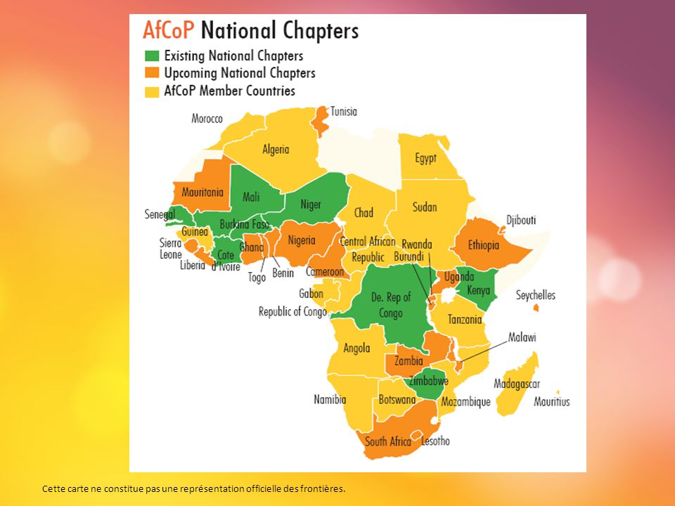 Vision de l'AfCoP et principes directeurs Améliorer les conditions de vie des citoyens à travers l'Afrique par la GRD en tant que processus de gestion du changement.