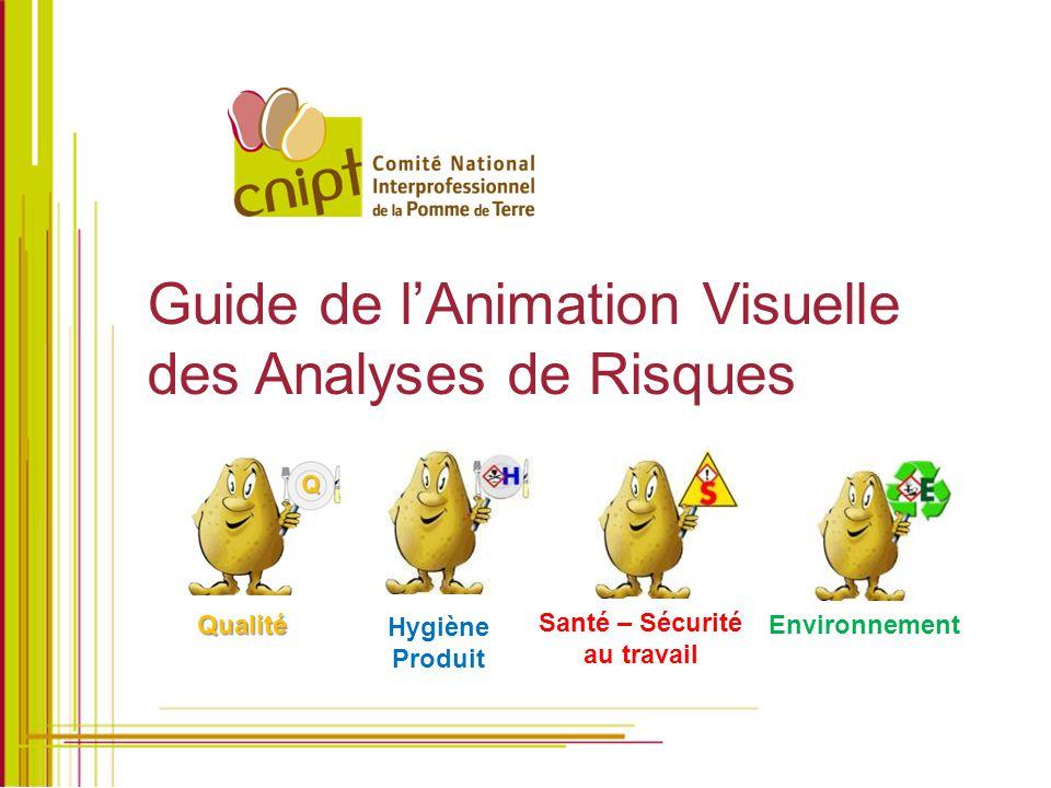 Guide de l'Animation Visuelle des Analyses de Risques Hygiène Produit Santé – Sécurité au travail Environnement Qualité