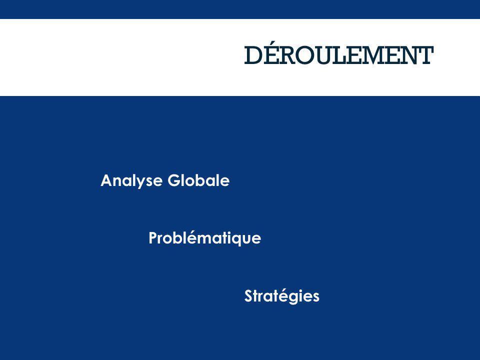 DÉROULEMENT Analyse Globale Problématique Stratégies Analyse Globale Problématique Stratégies
