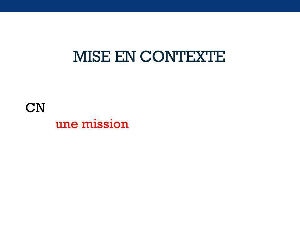 CN une mission