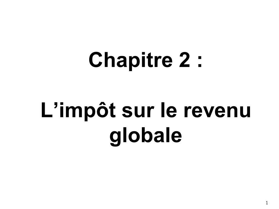 Chapitre 2 : L'impôt sur le revenu globale 1