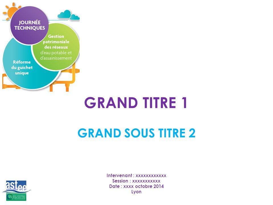 GRAND SOUS TITRE 2 GRAND TITRE 1 Intervenant : xxxxxxxxxxxx Session : xxxxxxxxxxx Date : xxxx octobre 2014 Lyon