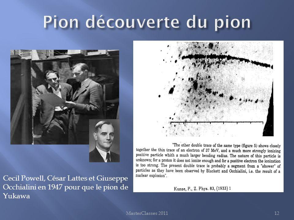 MasterClasses 201112 Cecil Powell, César Lattes et Giuseppe Occhialini en 1947 pour que le pion de Yukawa