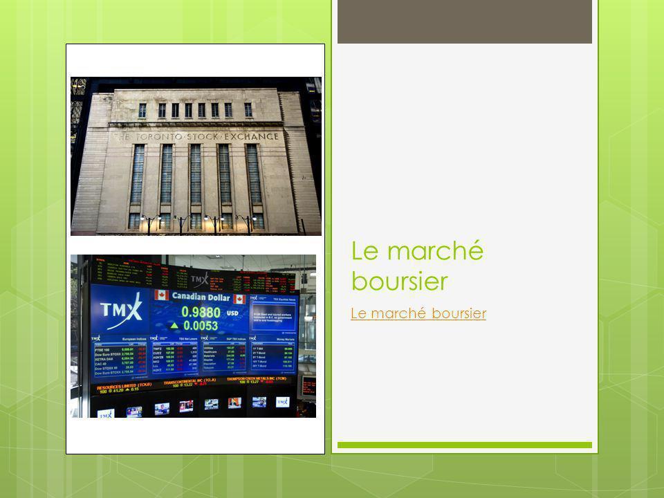 Le marché boursier