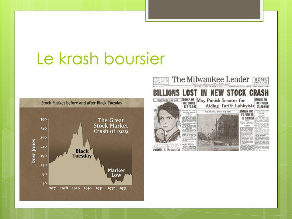 Le krash boursier