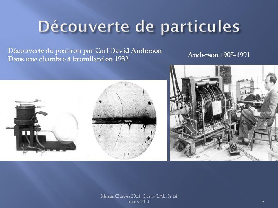 MasterClasses 2011, Orsay LAL, le 14 mars 20119 C. Anderson et S. Neddermeyer en 1937 neddermeyer