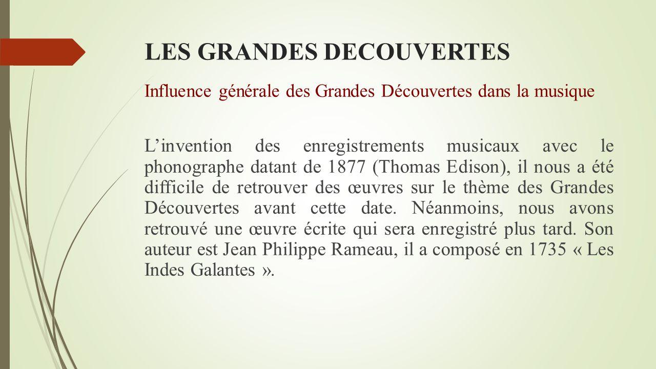 LES GRANDES DECOUVERTES Influence générale des Grandes Découvertes dans la peinture « Christophe Colomb devant le conseil de Salamanque » Emmanuel Leu