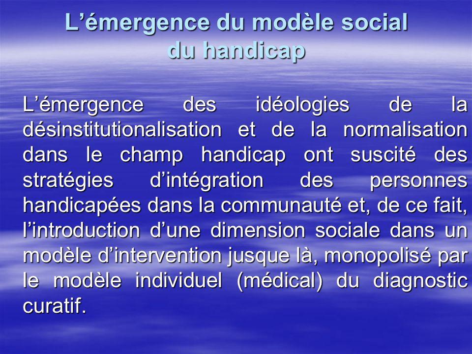 Le modèle individuel du handicap Le modèle individuel ou modèle biomédical du handicap était sous-tendu par les théories fonctionnalistes.