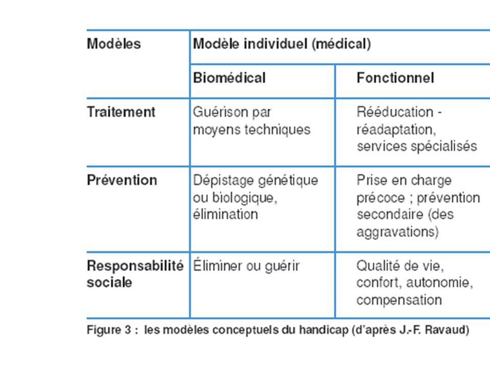Le Modèle social du handicap Modèle du processus de production du handicap ou modèle de compréhension anthropologique du développement humain.