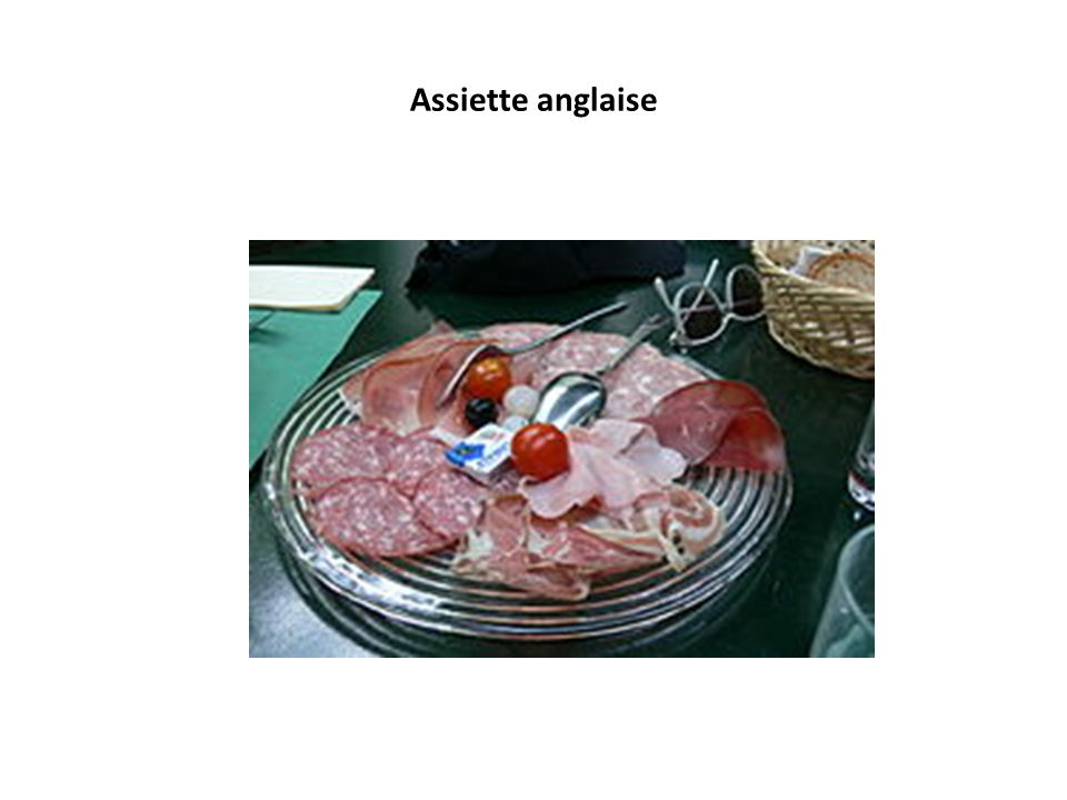 Assiette anglaise