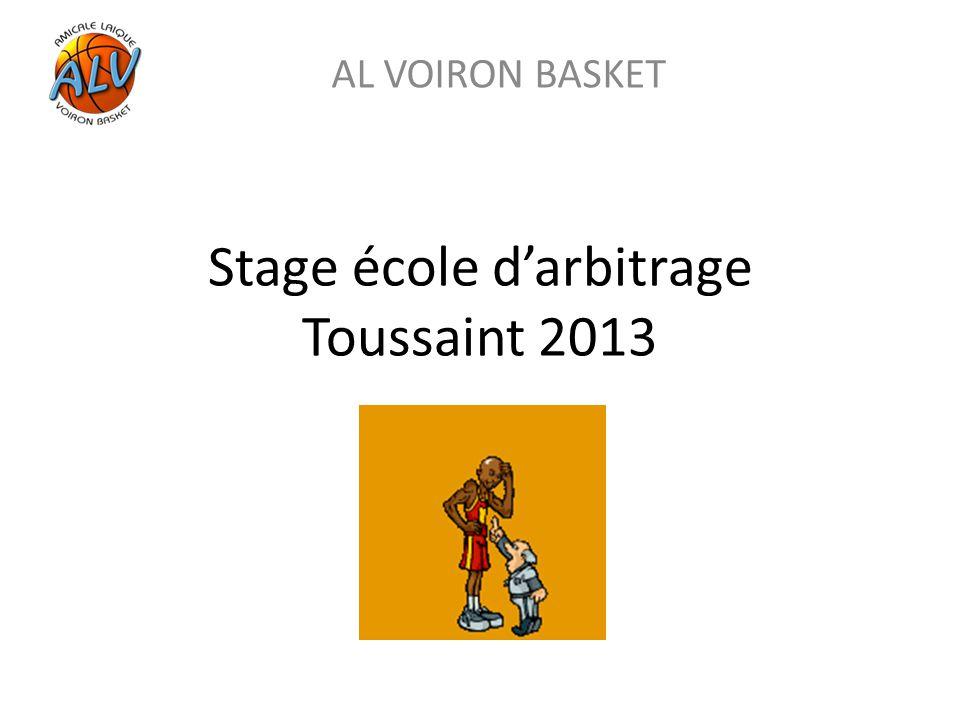 Stage école d'arbitrage Toussaint 2013 AL VOIRON BASKET