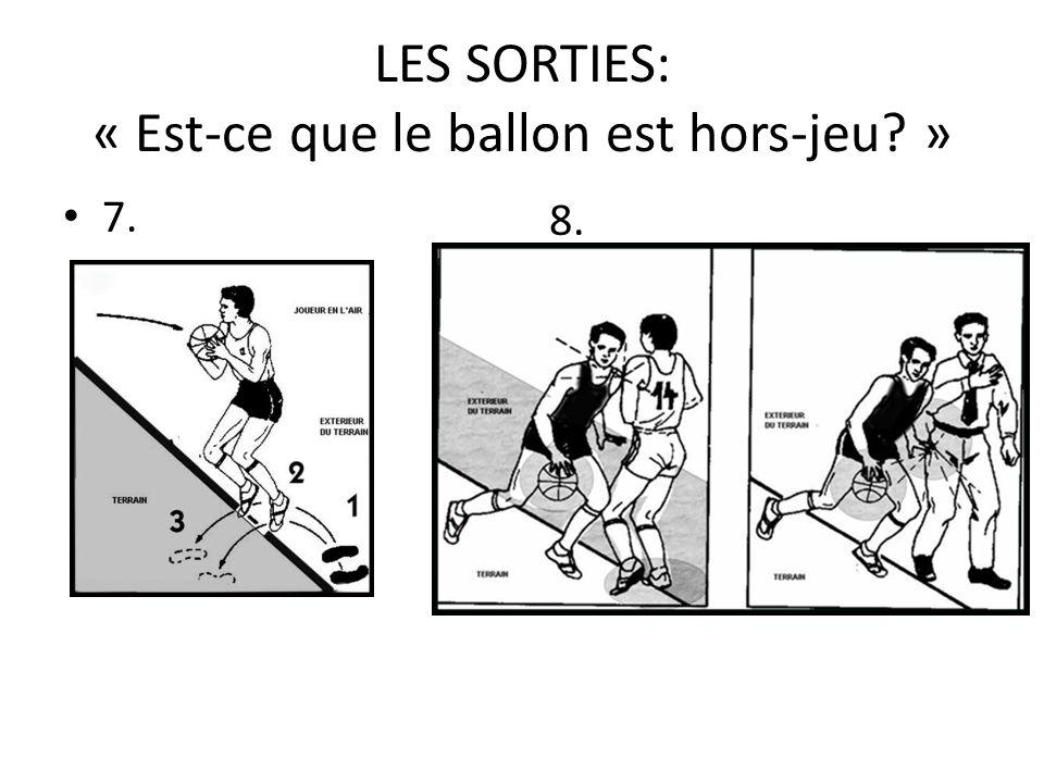 LES SORTIES: « Est-ce que le ballon est hors-jeu? » 7. 8.